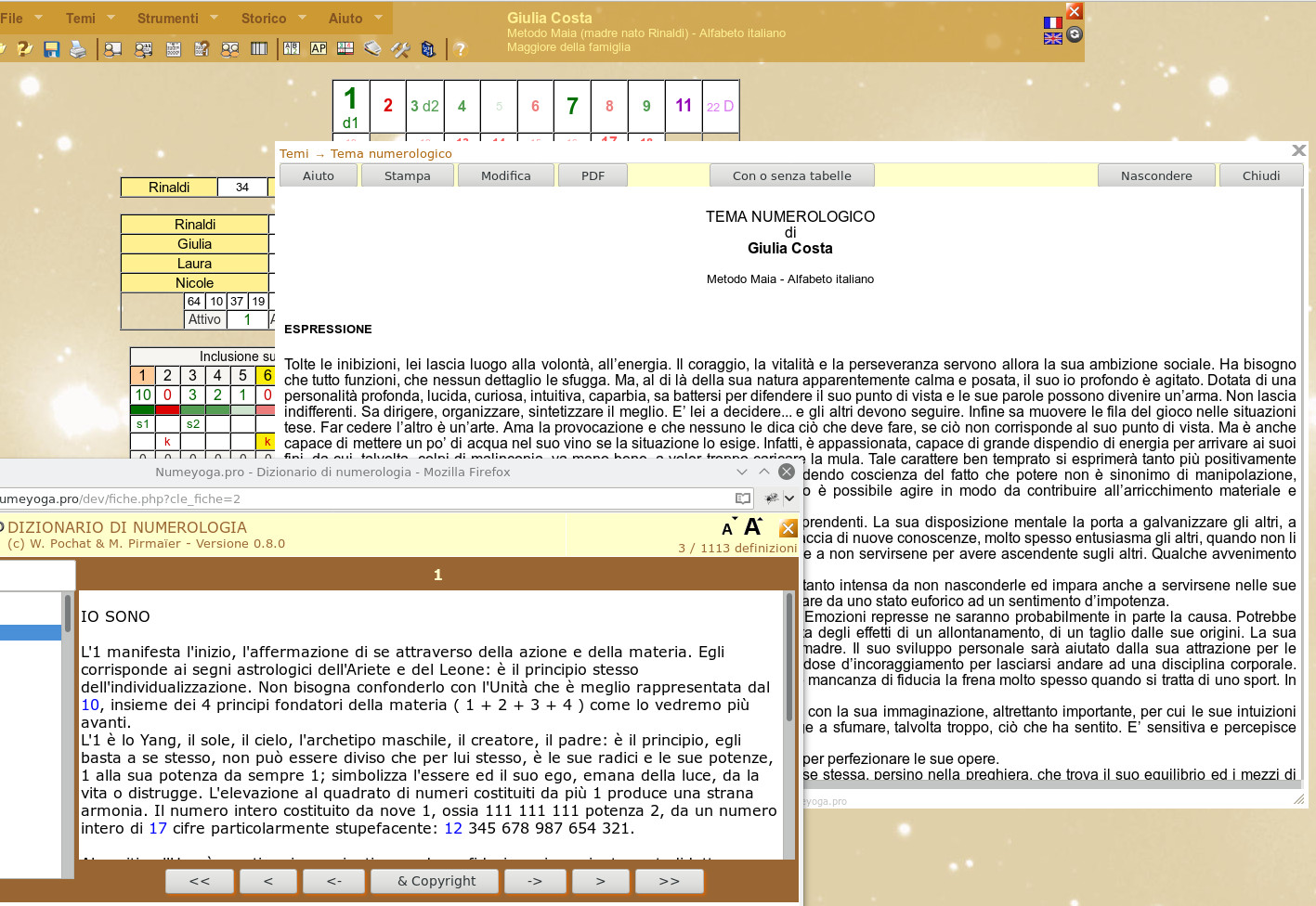Online Numerologia Software